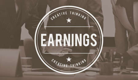 earnings: Earnings Finance Cash Flow Income Investment Concept