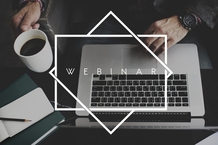 Webinar E-business Browsing Connection Laptop Concept