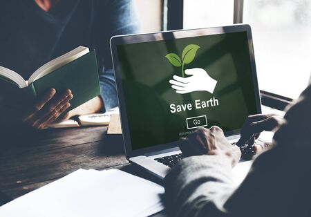 environmental conservation: Save Earth Environmental Conservation Global Concept