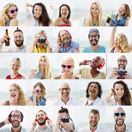 viso di uomo: Persone serie di facce diversità umana Viso Concetto