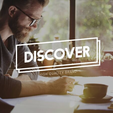 found: Discover Discovery Found Seeking Exploration Concept Stock Photo