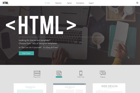html: HTML Network Coding Website Internet Concept Stock Photo