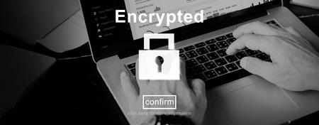 Encryption Binary Computer Password Private Safe Concept