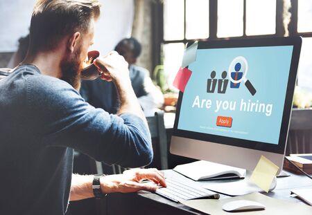 Hiring Human Resources Job Career Occupation Concept