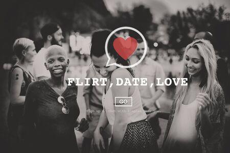 soulmate: Flirt Date Love Heart Soulmate Concept Stock Photo