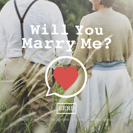 Will You Marry Me Valentine Romance Love Heart Dating Concept Stock Photo