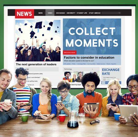 cobrar: Momentos recoger Experiencia Disfrute Concept