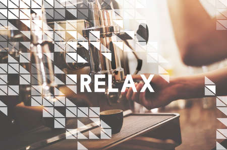 freedom: Relax Relaxation Freedom Cafe Coffee Shop Concept