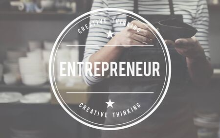 curator: Entrepreneur Developer Business Dealer Risk Concept