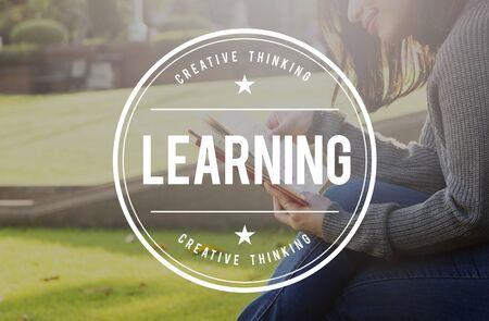 inteligencia: Estudio de aprendizaje Progreso Mejora Concepto entendimiento Foto de archivo