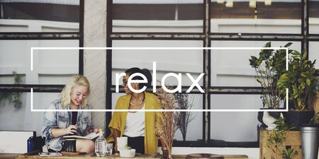 chill out: Relax Relaxation Chill out Resting Concept Stock Photo