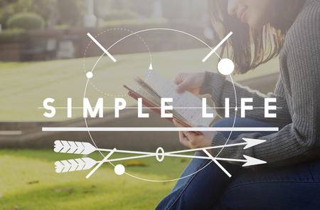 simple life: Simple Life Enjoy Balance Lifecycle Relax Simplicity Concept