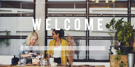 store sign: We are Open Welcome Notice Message Shop Sign Concept