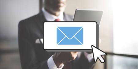 correspondence: E-mail Connection Communication Correspondence Cocnept Stock Photo