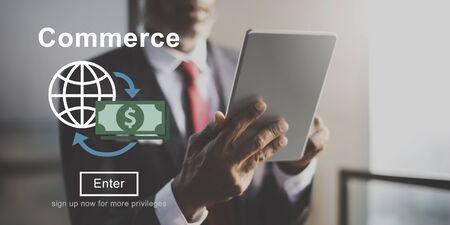 commerce: Commerce World Economics Money Concept Stock Photo