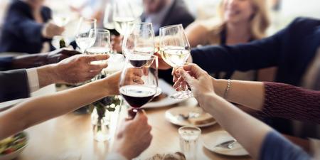ビジネス人パーティーお祝いの成功の概念 写真素材