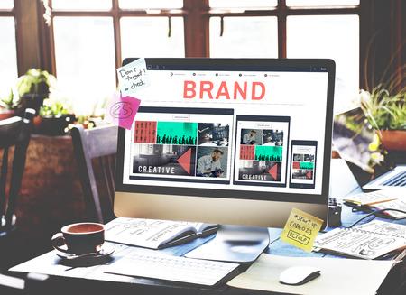 advertising signs: Brand Branding Marketing Advertising Trademark Concept