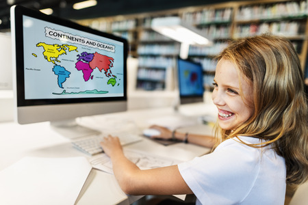 early childhood: Academic School Childern E-learning Geography Concept