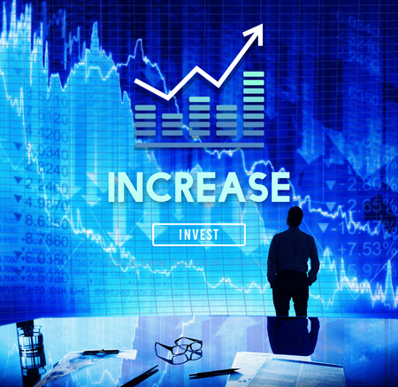 enlarge: Increase Enlarge Expand Extend Growth Rise Concept Stock Photo