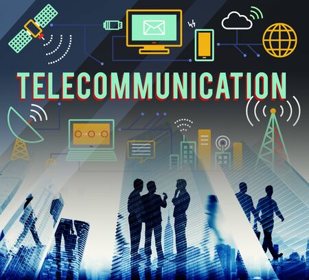 wireles: Telecommunication Connection Links Networking Concept