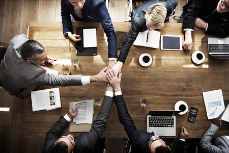 Join Hands partnerschapsovereenkomst Meeting Zakelijk Concept Stockfoto