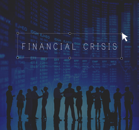 downturn: Financial Crisis Downture Banking Business People Concept