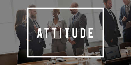 outlook: Attitude Thinking Outlook Ideas Viewpoint Concept Stock Photo