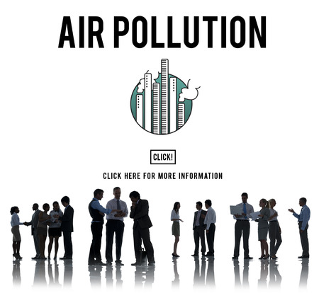 environmental conversation: Air Pollution Carbon Dioxide Dirty Energy Toxic Concept Stock Photo