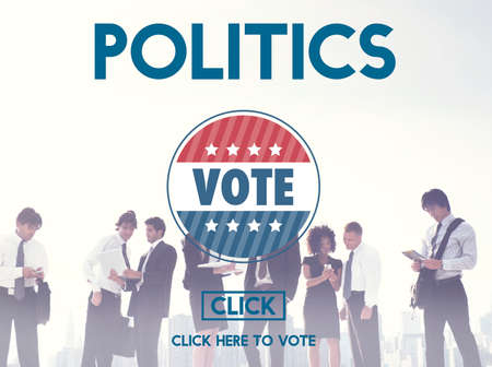 conflict theory: Politics Vote Election Government Party Concept Stock Photo