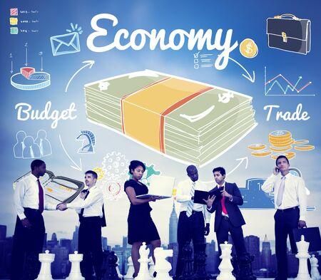 spending money: Economy Budget Trade Spending Money Concept Stock Photo