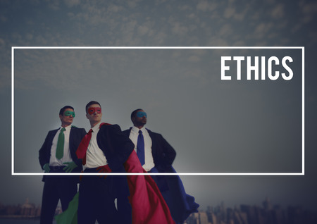 ethics and morals: Ethics Virtues Values Behavior Integrity Concept