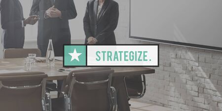 strategize: Strategize Tactics Vision Solution Development Concept Stock Photo