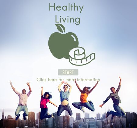 vitality: Health Living Insurance Exercise Vitality Life Concept