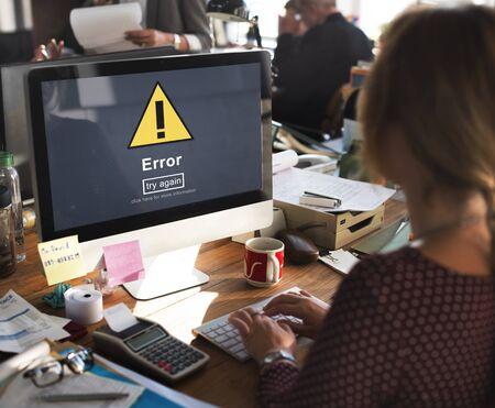 Error Mistake Online Reminder Beware Alert Concept Stock Photo