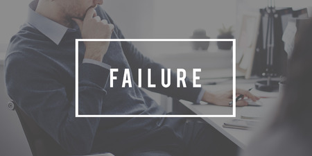 failed strategy: Failure Loss Depression Unsuccessful Concept Stock Photo