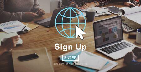Entrar Registrarse Registro Página de inicio Concept