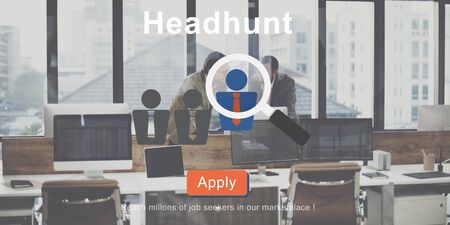 scouting: Headhunt Recruitment Scouting Hiring Employment Concept
