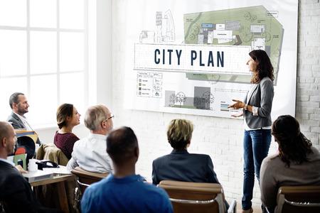 Ville plan Municipalité Communauté Ville Concept de gestion