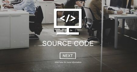 source: Source Code System PHP Open Source Concept Stock Photo