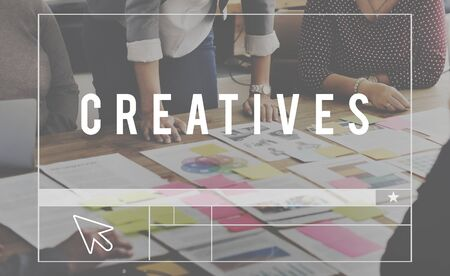 expertise: Creatives Designer Ideas Occupation Expertise Concept Stock Photo