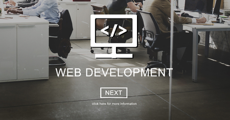 javascript: Web Development Javascript Process Software Concept