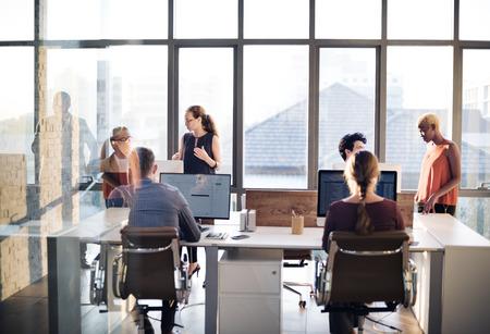 Business-Kommunikation, Verbindung, Arbeitskonzept Standard-Bild