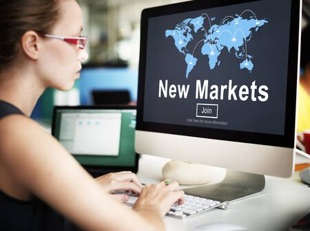 new world: New Markets Business Innovation Global Business Concept