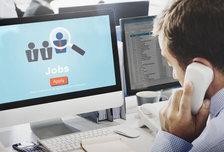 employing: Jobs Hiring Occupation Recruitment Work Careers Concept