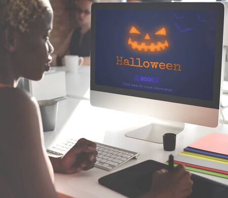 Jack O Lantern Halloween Symbol Concept Stock Photo