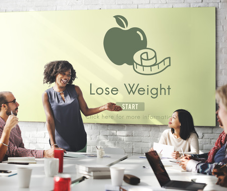 loss leader: Lose Weight Balance Fitness Slim Diet Nutrition Concept Stock Photo