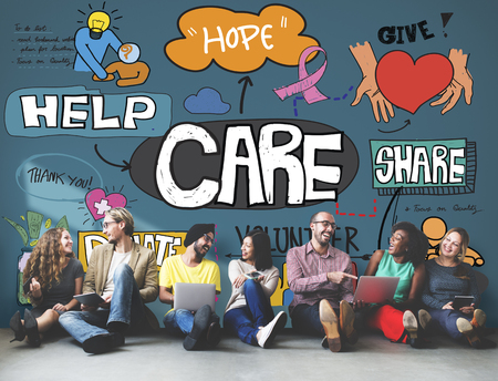 Care Donate Charity Protection Secured Concept Stock Photo