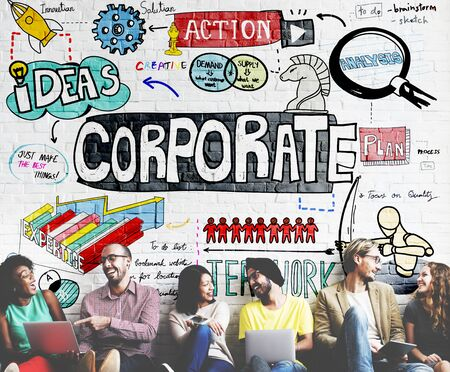 corporation: Corporate Business Corporation Company Analysis Concept