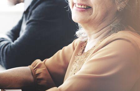 senior woman: Business Team Organization Brainstorming Meeting Concept