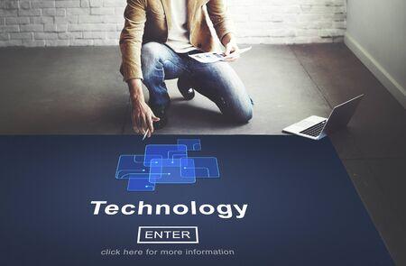 innovative concept: Technology Innovation Share Digital Innovative Concept